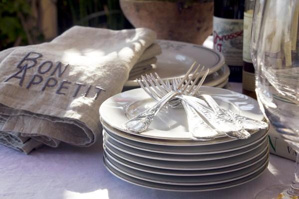 Natural Linen Bon Appetit Napkins Set of 4