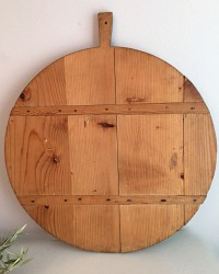 Vintage French Round Large Boulangerie Bread Board