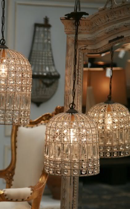 Eloquence Beaded Parisian Bird Cage Chandelier