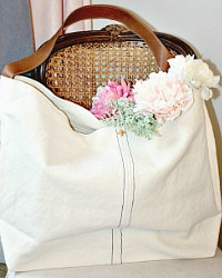 Linen Canvas Weekender Bag