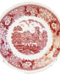 Antique 19th Century English Red Transferware Plate