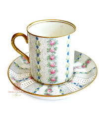 Vintage English Chintz Demitasse Cup & Saucer
