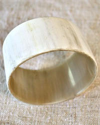 Large Hand Made Adia Light Horn Bangle