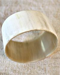 Large Hand Made Adia Light Horn Bangle