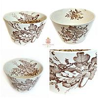 Antique Aesthetic Transferware Bowl Four Seasons
