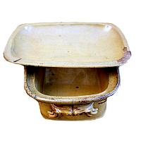 Antique French Country Yellow Glazed Pottery Tureen