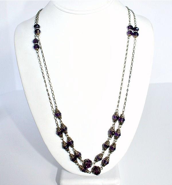 Duchess Purple Amethyst Layering Necklace