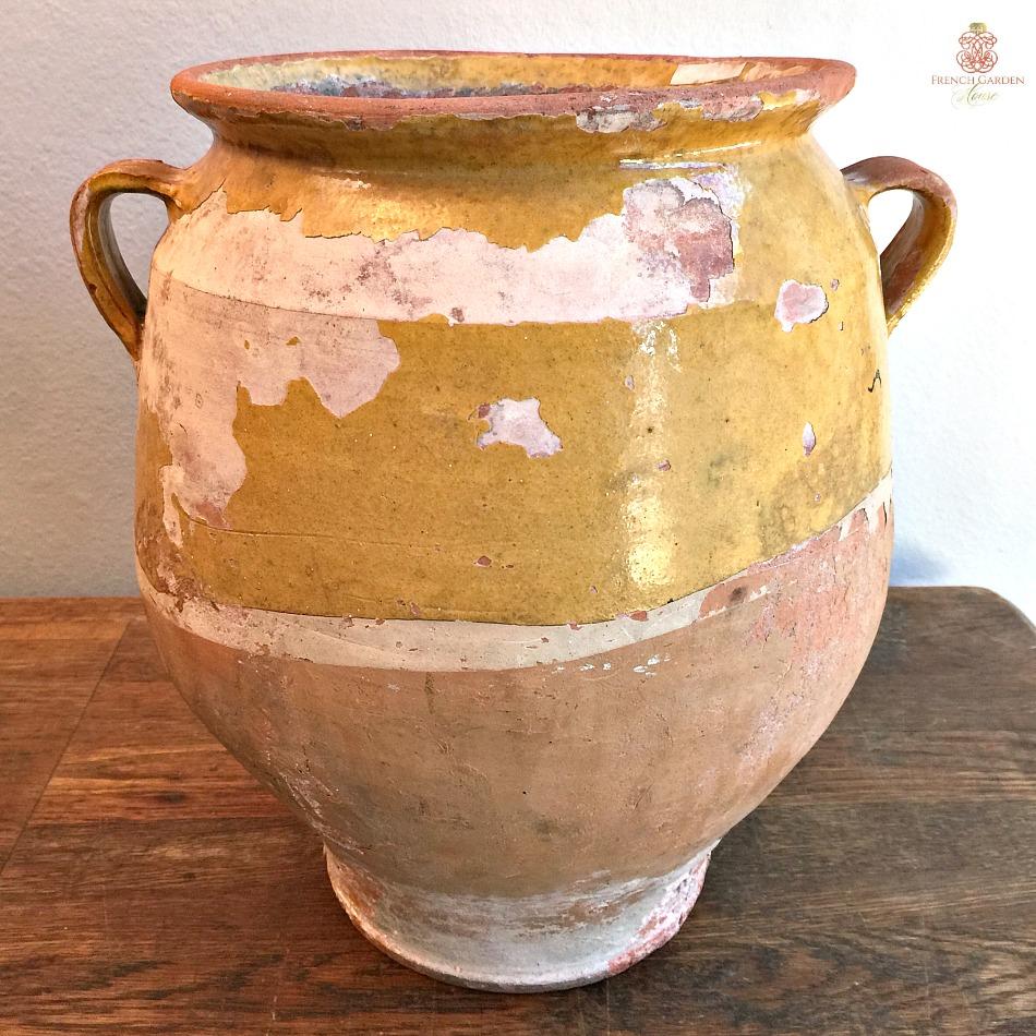 Antique French Provencal Confit Pot Large