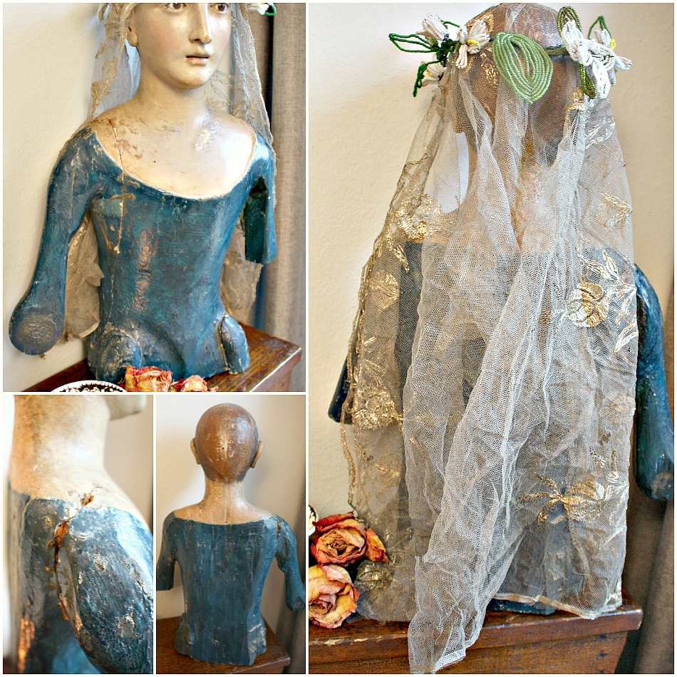 Antique Processional Madonna