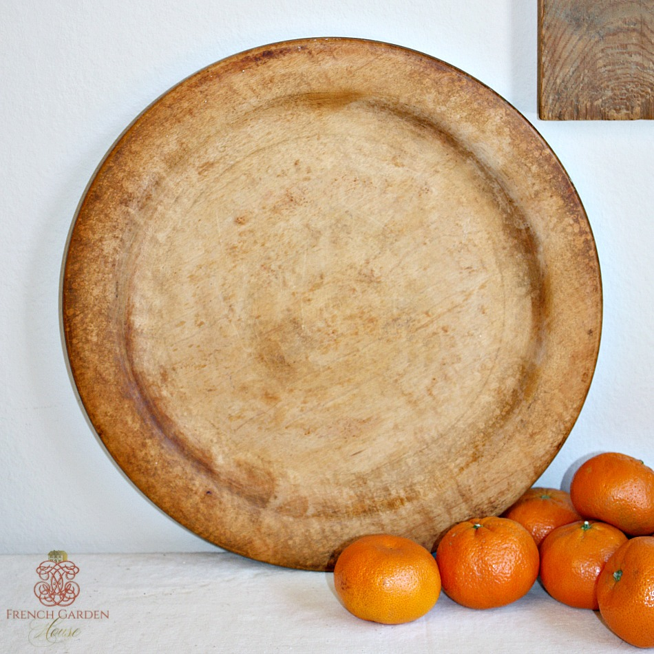 Antique Country Wooden Treen Trencher Platter