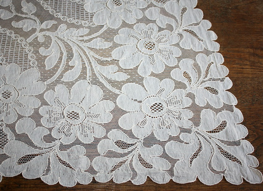 French Alencon Lace Reflectory Tablecloth