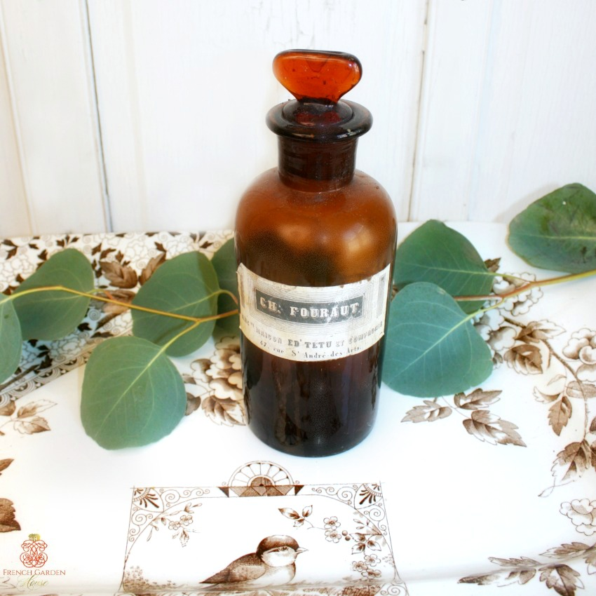 Antique French Apothecary Bottle Fouraut