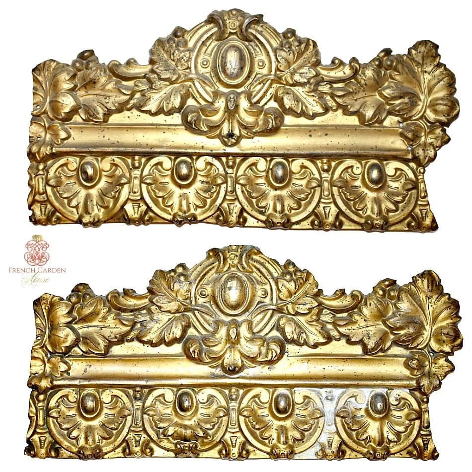 Antique French Gilt Metal Architectural Decorative Element