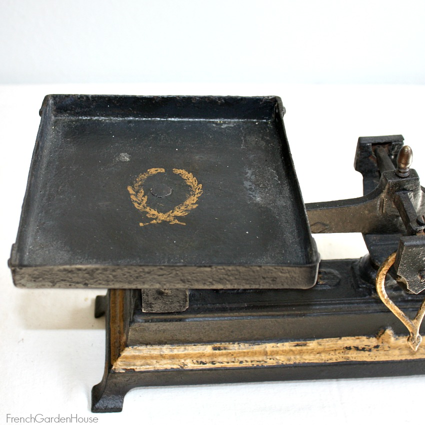 Antique French Balance Scale Black and Gold