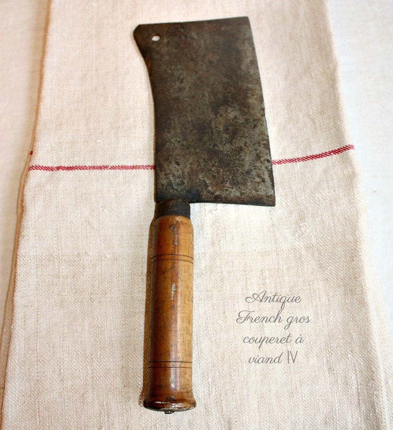 Antique French Chef's Cleaver
