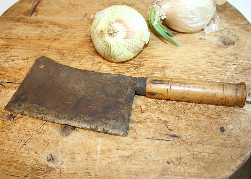 Antique Grande French Butcher Knife IV