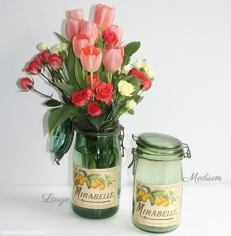 Vintage French Green Canning Jar Mirabelle Plums Label