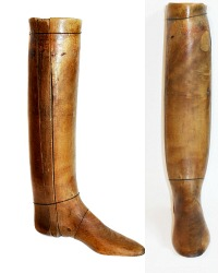 Antique French Wood Single Boot Form
