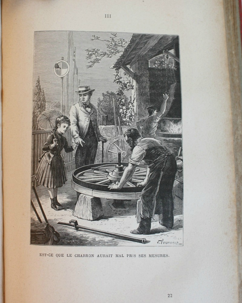 Antique French Promenade d'une Fillette Book 1887
