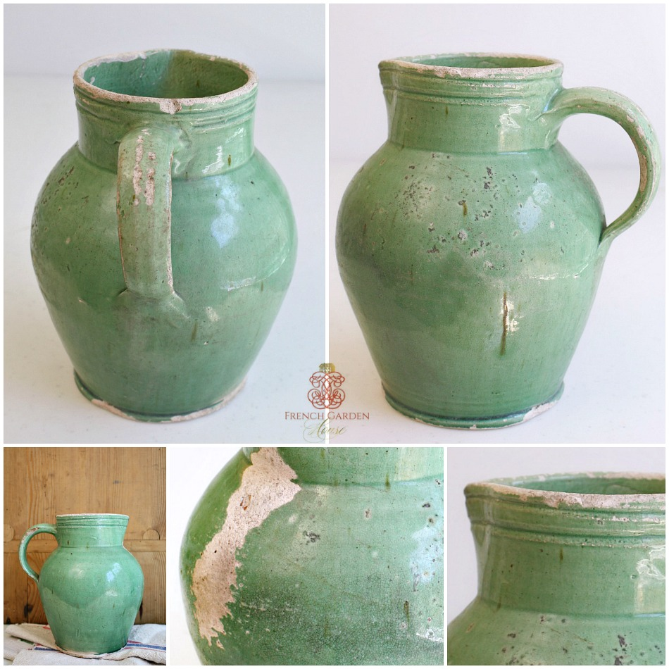 Original Antique French Prevelles Water Jug