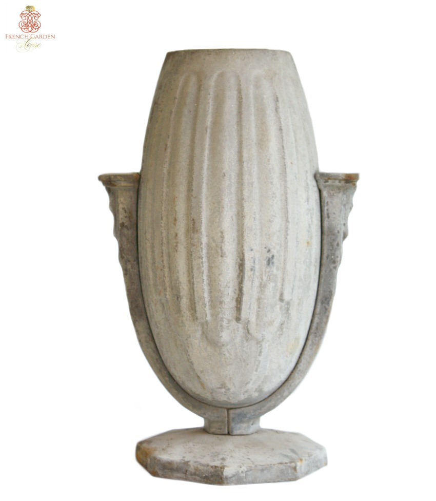 Art Deco French Gris Cast Iron Vase