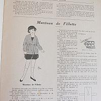 Antique French Fashion Knitting Pattern Magazine