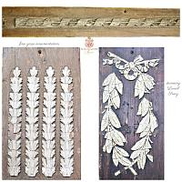 Antique Wood and Gesso French Ornamentation Architectural Fragments