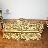 Antique French Gilt Metal Architectural Decorative Element