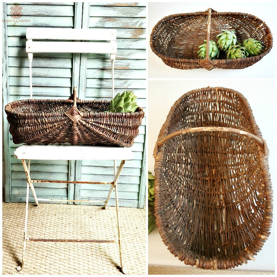 Rustic French Country Grape Picking Basket