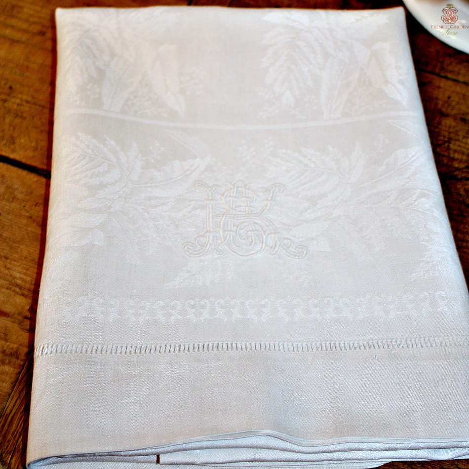 Antique French Hotel Linen White Towels Monogrammed K A E Set of 3