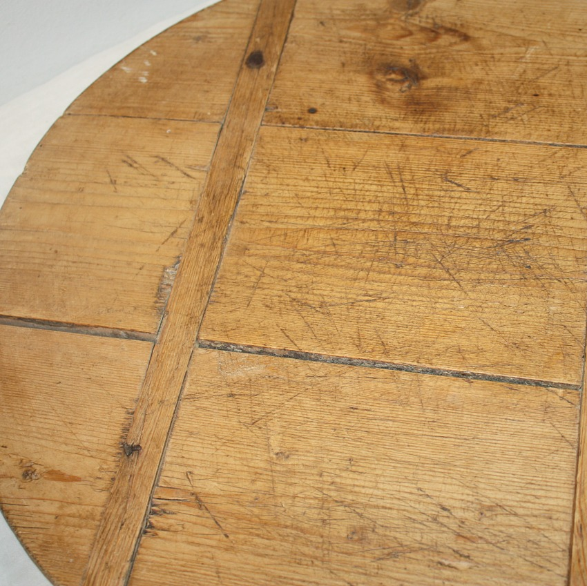 Antique French Pine Boulangerie Round Breadboard