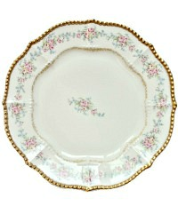 Antique French Limoges Rose Garlands Luncheon Plates Set of 4
