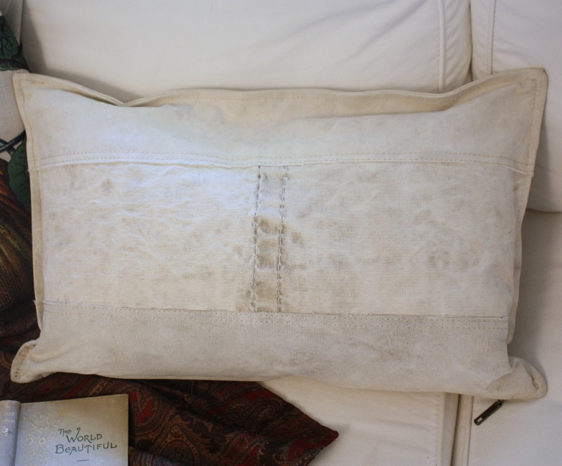 Antique French Postal Sack Pillow Down Insert