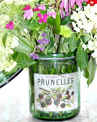 Vintage French Canning Jar Prunelles