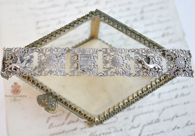 Antique French Silver Souvenir Bracelet