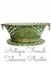 Antique French Toleware Planter Jardiniere