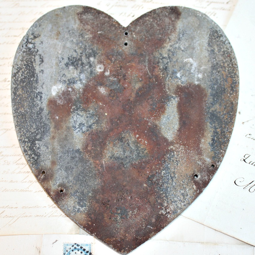 19th Century French Memorial Burial Plaque Sacred Heart
