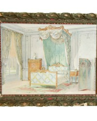 Antique French Bedroom Shabby Framed Print