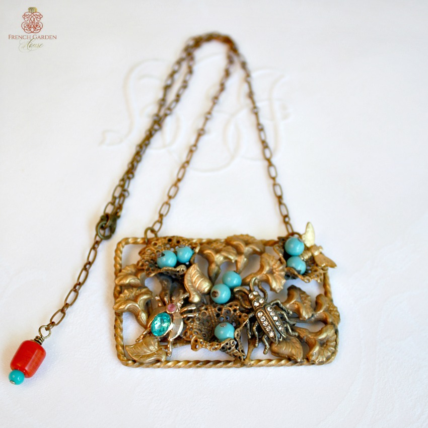 One of a Kind Turquoise Garden Necklace