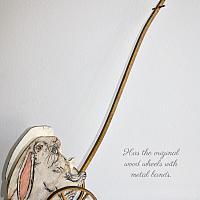Antique Hand Made Rabbit Child's Pull Cart