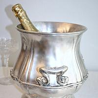 Rare Antique Sherman Hotel Silver Champagne Bucket