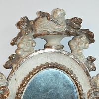 Antique 19th Century Lamb Of God Altar Mirror
