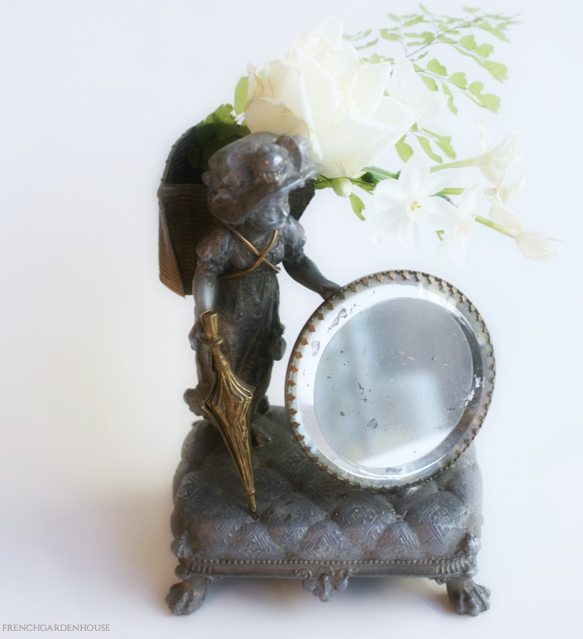 Antique Kate Greenaway Style Figural Holder