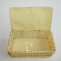 Antique Celluloid Sewing Basket Box with Doves and Roses