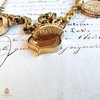 Antique Lockets and Watch Fob Necklace