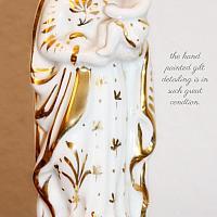 Antique Mid 1800's Old Paris Porcelain Madonna & Child Statue II