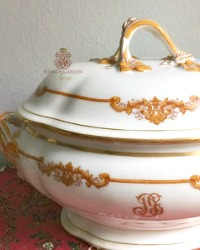 Antique French Large Old Paris Style Covered Tureen