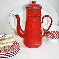 Vintage Enamelware Red Coffee Biggin