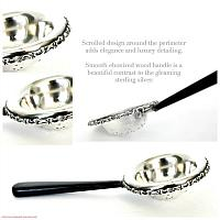 Antique Sterling Silver Pierced Tea Strainer R W & Sons