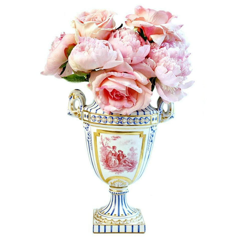 Antique Sevres Louis XVI Hand Painted Porcelain Urn